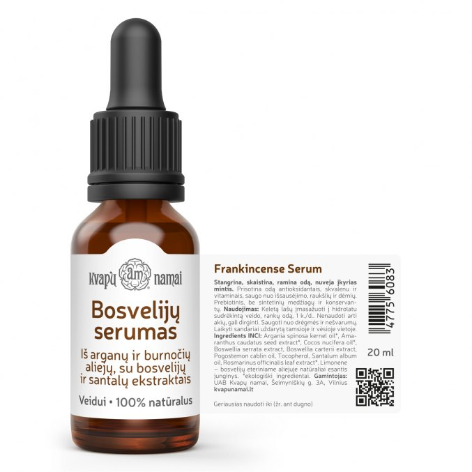 Natural Frankincense Serum with Olibanum, Argan, Amaranth & Sandalwood