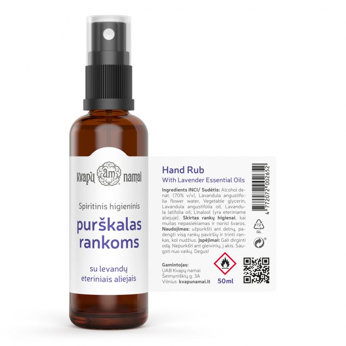 Hand Rub with Lavender Essential Oils