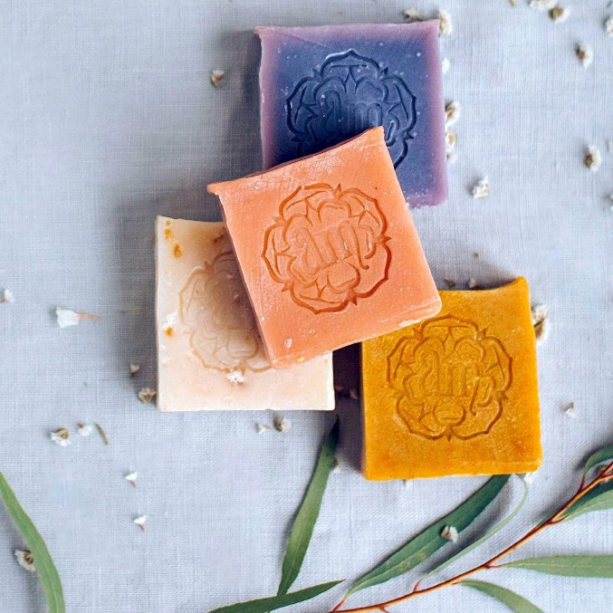 Natural raw shea butter soap with lemongrass CITRA