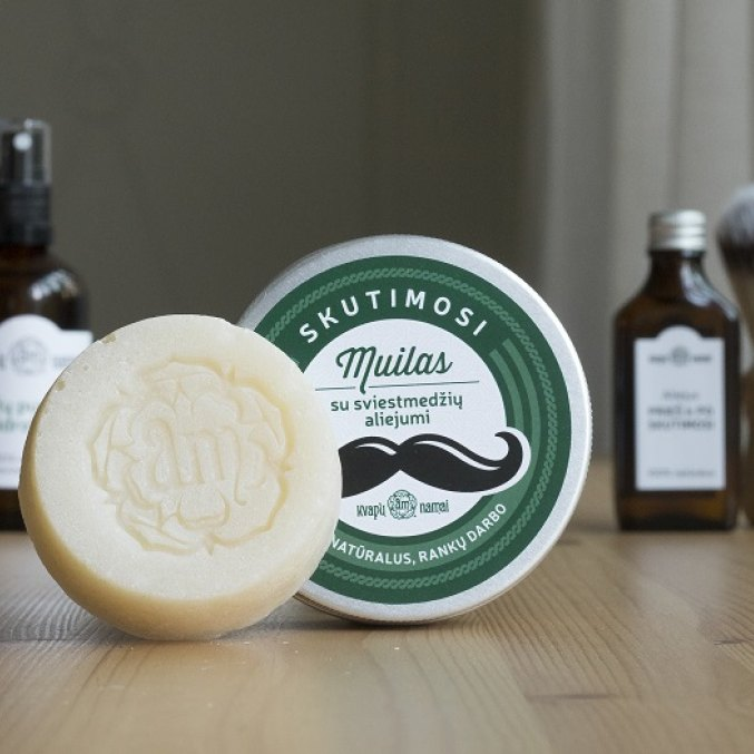 Shaving soap with shea butter, 100% natural